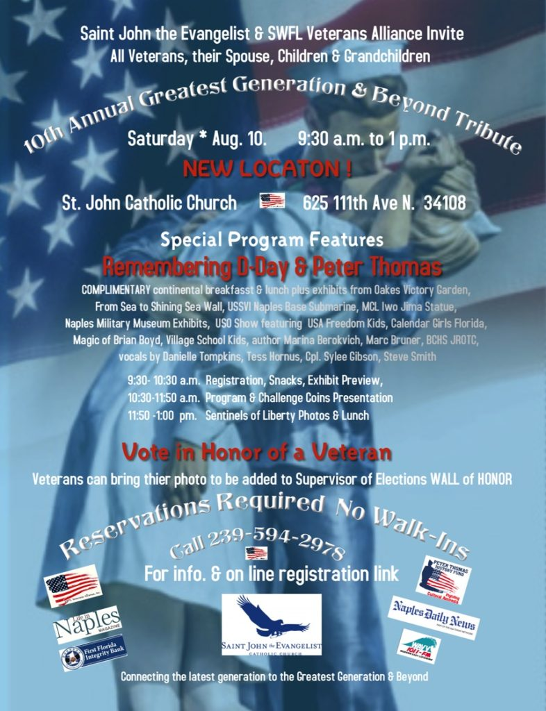 Greatest Generation & Beyond Tribute Sponsored in part by WAVV-101.1 FM