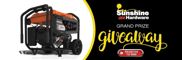Enter to Win a Generator from WAVV and Sunshine ACE Hardware